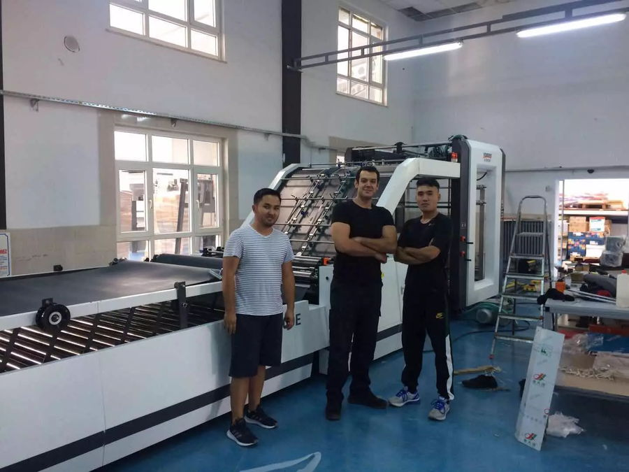 YB-1300E Automatic Flute Laminating Machine Installed in Turkey