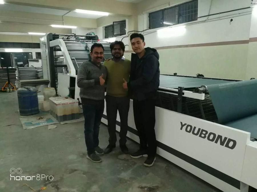 The automatic laminating machine installed in Agra,India